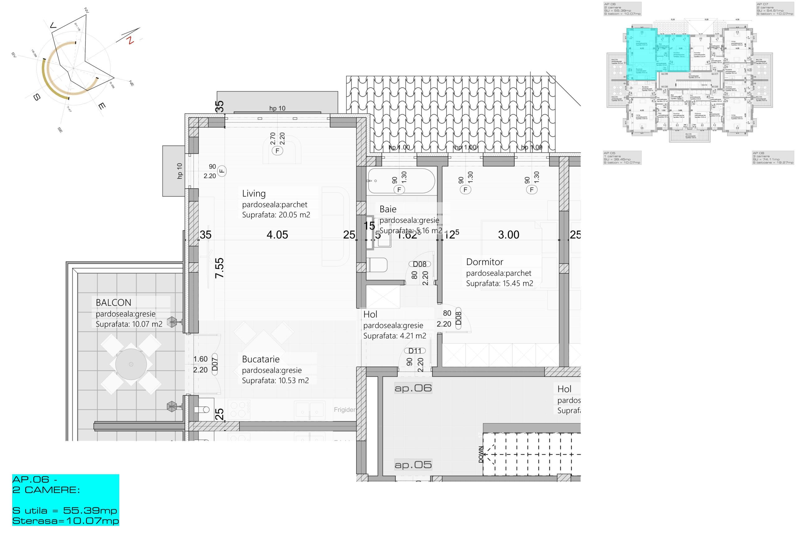 Apartament 6 – Etaj 1 – 2 camere