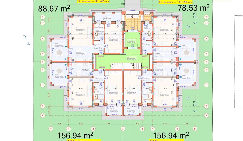Construire bloc de locuinte P+3E+M